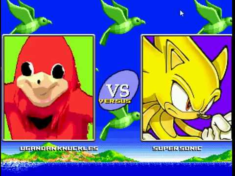 Ugandan Knuckles vs Super Sonic MUGEN - смотреть онлайн на Hah Life