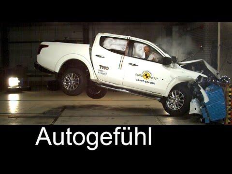 New Mitsubishi L200 Triton crashtest Euro NCAP 4 stars - Autogefühl