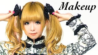 Kawaii GOTHIC LOLITA Makeup Tutorial  by Japanese model MOCO