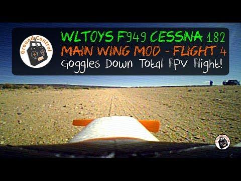 WLToys F949 Cessna 182 - FPV Flight after Complete Brushless MOD