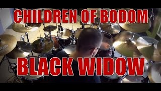 CHILDREN OF BODOM - Black widow - drum cover (HD)
