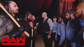 Acting General Manager Baron Corbin bars The Hounds of Justice from Monday Night Raw for the evening.  #RAW  GET YOUR 1st MONTH of WWE NETWORK for FREE: http://wwenetwork.com --------------------------------------------------------------------- Follow WWE on YouTube for more exciting action! --------------------------------------------------------------------- Subscribe to WWE on YouTube: http://bit.ly/1i64OdT Check out WWE.com for news and updates: http://goo.gl/akf0J4 Find the latest Superstar gear at WWEShop: http://shop.wwe.com --------------------------------------------- Check out our other channels! --------------------------------------------- The Bella Twins: https://www.youtube.com/thebellatwins UpUpDownDown: https://www.youtube.com/upupdowndown WWEMusic: https://www.youtube.com/wwemusic Total Divas: https://www.youtube.com/wwetotaldivas ------------------------------------ WWE on Social Media ------------------------------------ Twitter: https://twitter.com/wwe Facebook: https://www.facebook.com/wwe Instagram: https://www.instagram.com/wwe/ Reddit: https://www.reddit.com/user/RealWWE Giphy: https://giphy.com/wwe