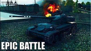 Как играют статисты на AMX 13 90 epic battle 🌟 World of Tanks лучший бой на лт 9 уровня АМХ 13 90