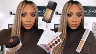 HOLIDAY MAKEUP TUTORIAL using FAVORITE DRUG STORE AND HIGH END PRODUCTS   Faceovermatter