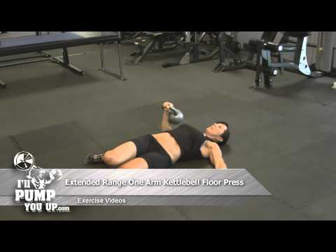 Extended Range One-Arm Kettlebell Floor Press