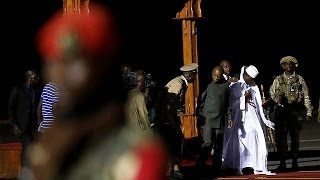 Gambia's former leader Yahya Jammeh flies into exile