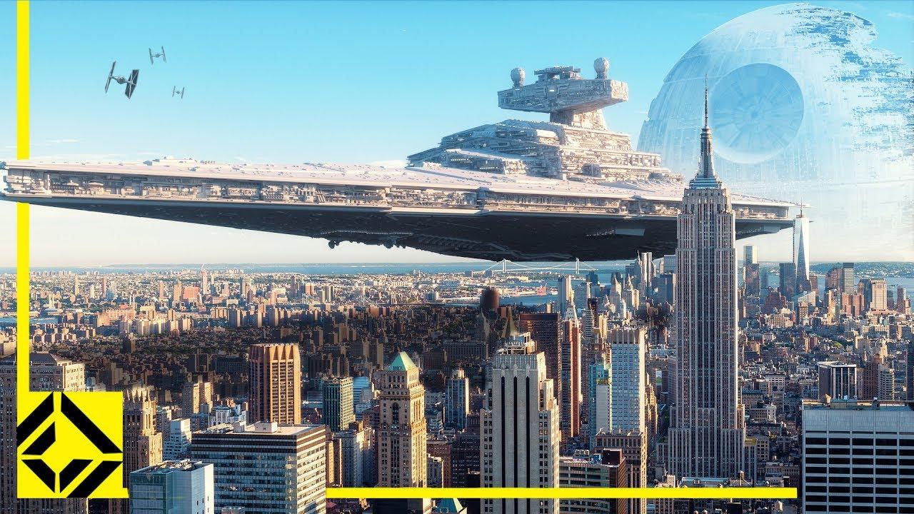El tamaño de las naves de Star Wars superpuesto sobre imágenes del MundoReal ™ thumbnail