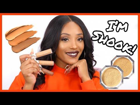 FENTY SHOOK My Wig Off! FENTY Beauty Pro Filt'r Concealer & Setting Powder First Impressions!