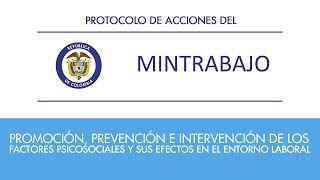 Protocolo de acciones para intervención factores de riesgo psicosociales Ministerio del Trabajo