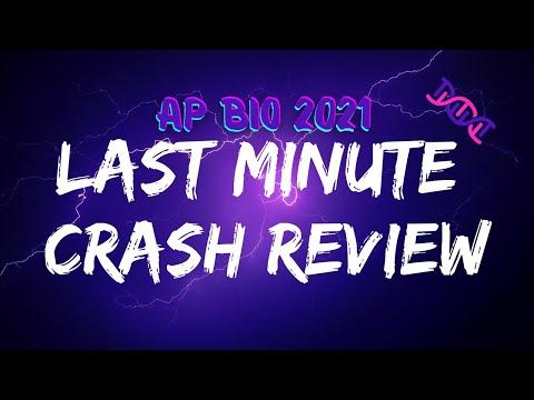 Last Minute Crash Review: AP Biology 2021 Exam CRAM Study ...