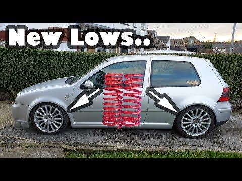 How to install lowering springs on a VW Golf