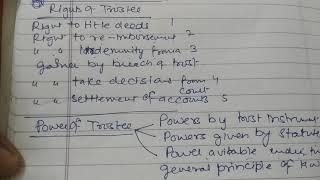 RIGHTS ,POWERS, DUTIES, LIABILITIES OF TRUSTEE in hindi