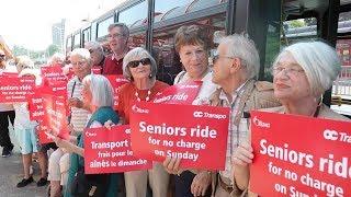 OC Transpo free for seniors on Sundays
