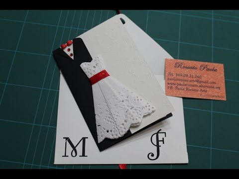 Wedding card DIY - biglietto di auguri per un matrimonio