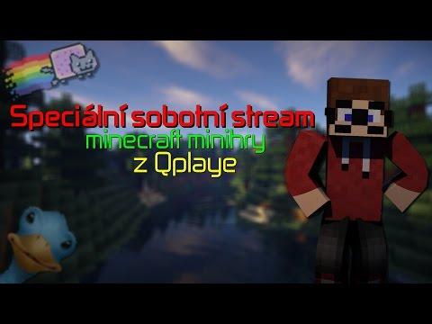 [Záznam] Speciální sobotní STREAM ► Minecraft minihry z Qplaye w/Macko,PlanB,Elen a Bubla