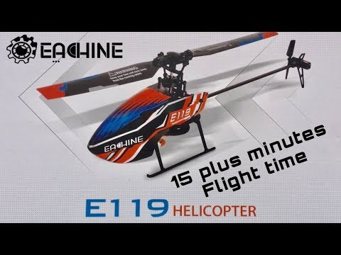Eachine E119 Perfect beginner Helicopter 15 plus minute flight time!!!