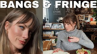 everything I wish I knew before getting BANGS | FRINGE | how to style