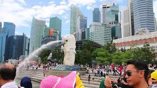 Merlion Park, Singapore. Tourist attraction