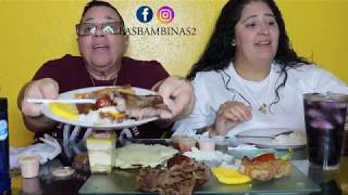 EATING FOR FIRST TIME COLOMBIAN FOOD BANDEJA PAISA  MUKBANG