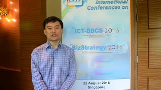 Dr. Gary Chan at ICT-BDCS Conference 2016 by GSTF