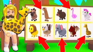 Buying ALL The NEW SAFARI PETS In Adopt Me! (Roblox)