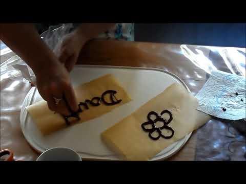 DIY Super easy Schokoladen Deko, #TORTENDEKO selbst gemacht, -Kommunion,HOCHZEIT;Geburtstag,..