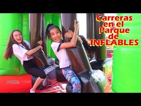 CaRReRaS en el PARQUE DE INFLABLES más GRANDE | TV Ana Emilia