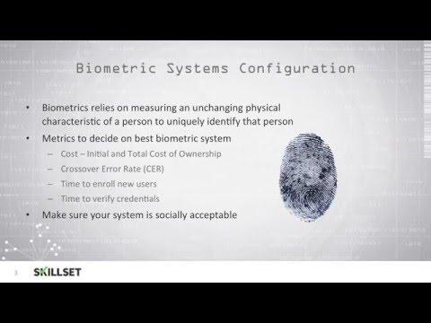 Biometrics - Type 3 Authentication (CISSP Free by Skillset.com ...