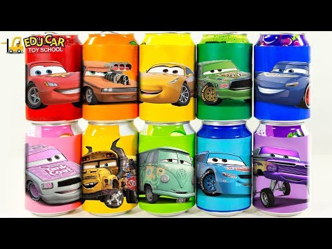 Learning Color Disney Pixar Cars Lightning McQueen Mack Truck Magic Juice Play For Kids Car Toys