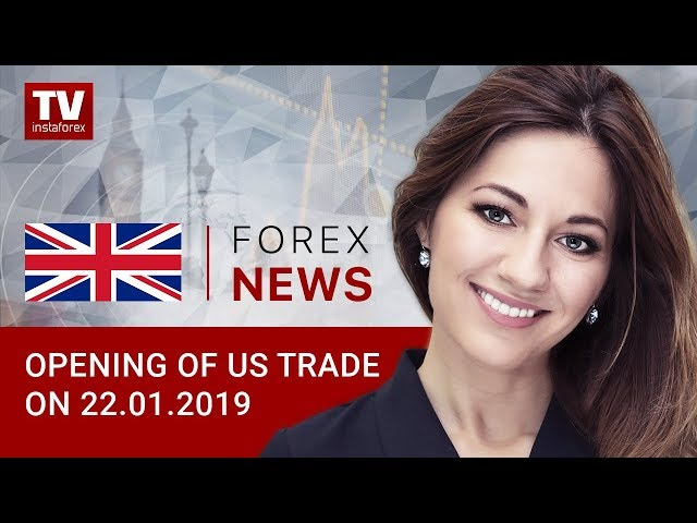 22.01.2019: USDX hits January's high: USDX, USD/CAD, EUR/USD