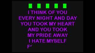Joan Jett And The Blackhearts -  I Hate Myself For Loving You  ...   KaraokeTubeBox