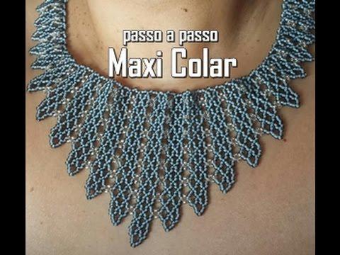 Maxi Colar cinza
