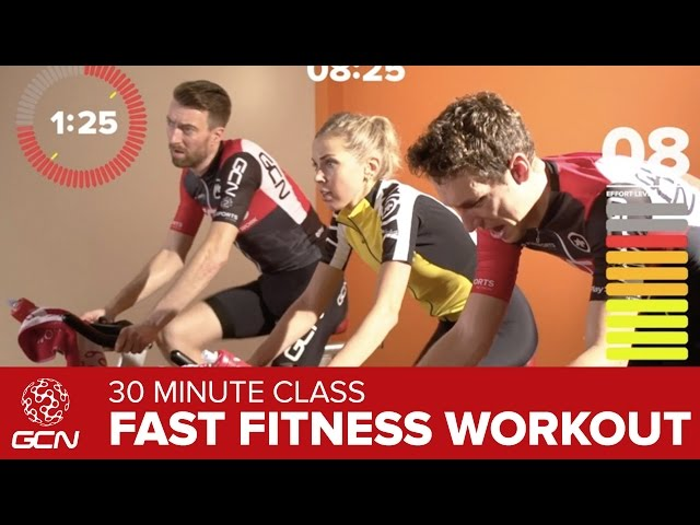 Fast Fitness Workout Get Fit With GCNs 30 Minute High Cadence Bike