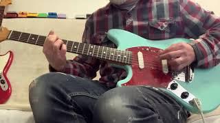 1995-1996 Fender Mustang Left Hand Lefty Guitar Fujigen Japan Strung Right Handed Righty