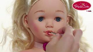 Lėlės galva 22 cm šukuosenoms su priedais   Princess coralie   Klein 5236