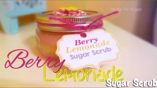 DIY Raspberry Lemonade Mason Jar Sugar Scrub Recipe