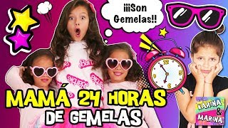 💕 ¡¡24 HORAS SIENDO MAMÁ DE GEMELAS!! 🌈 RETO MADRE O NIÑERA De GEMELOS POR 1 DÍA ENTERO 👑