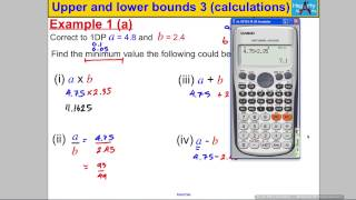 Upper & Lower Bounds 3 (calculations)