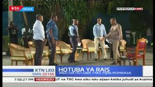President Uhuru arrives at the president round table interview