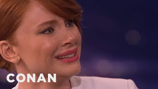 Bryce Dallas Howard Can Cry On Command   CONAN On TBS