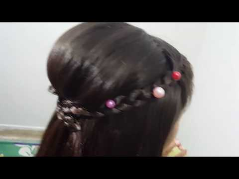 Puffy Hairstyle Help of Roller | Hairstyle |Hairstyles for girls |Messy Puff Hairstyle | Hairstyles