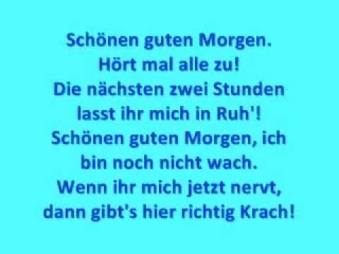 Wise Guys - Schönen guten Morgen [with Lyrics]
