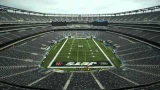 Time lapse video of Giants to Jets change at New Meadowlands
