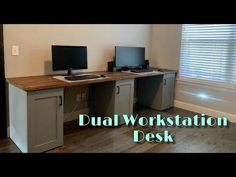 Dual Workstation Desk