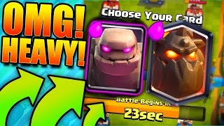 ONLY HEAVY CARDS! Clash Royale Crown Duel!