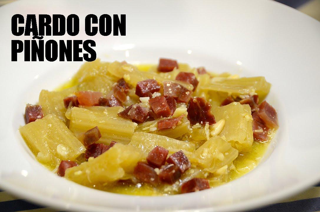 Cardo con Piñones
