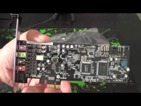 Asus XONAR DGX PCIE sound card unboxing & review with mic quality test!