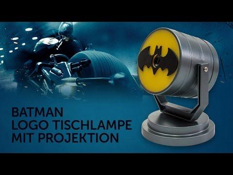 Batman: Batsignal als Tischlampe mit Projektion