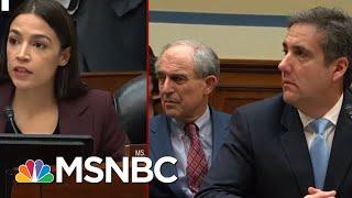 Rep. Alexandria Oscasio-Cortez And Rep. Ayanna Pressley Question Michael Cohen   MSNBC