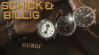Schicke Armbanduhren müssen nicht teuer sein   BUREI Watch Herren   Jedir Chronograph   Vorstellung